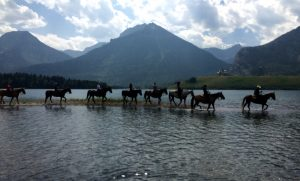Horseback riders at Waterton Lakes