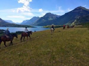 Waterton Lakes horseback riders